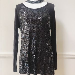 Michael Kors black sequin tunic